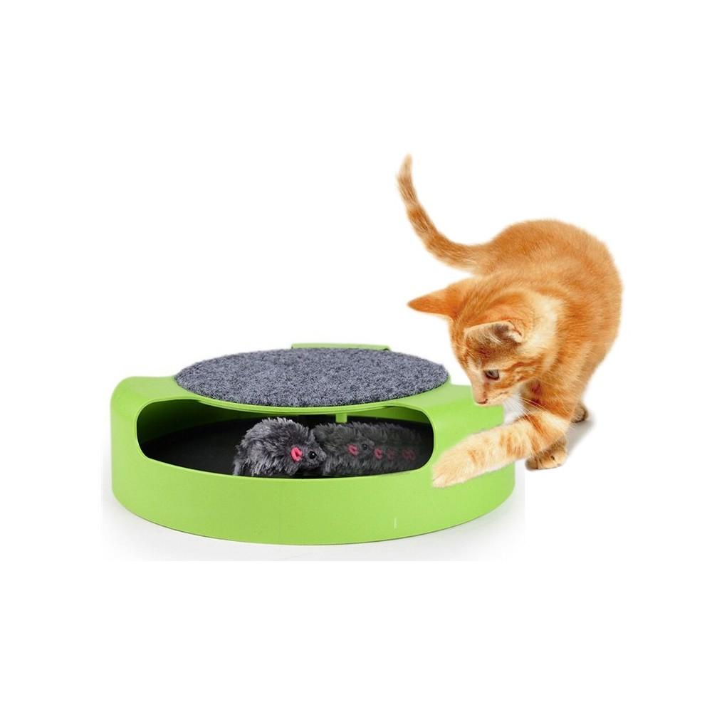Gioco per gatti 25 cm Acchiappa il topo duplice funzione con tiragraffi