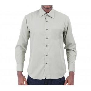 Camicia da uomo monocromo modello Justin in caldo cotone con colletto classico a 2 bottoni in vari colori