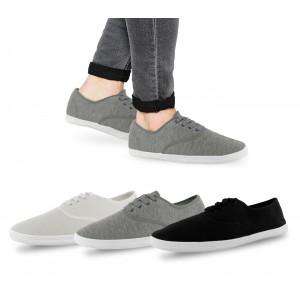 Scarpe sneakers da uomo modello San Francisco stringate basse in tela con suola in gomma in varie taglie e colori