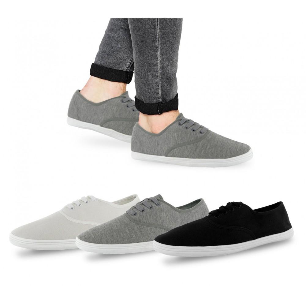 Scarpe sneakers da uomo San Francisco stringate basse in tela