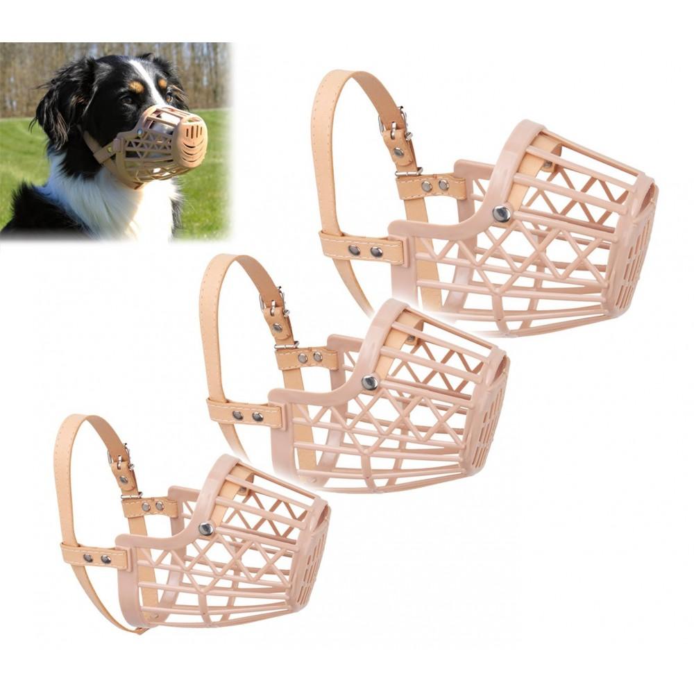 Museruola a cestello beige classica per cani di piccola, media e grande taglia ergonomica e sicura