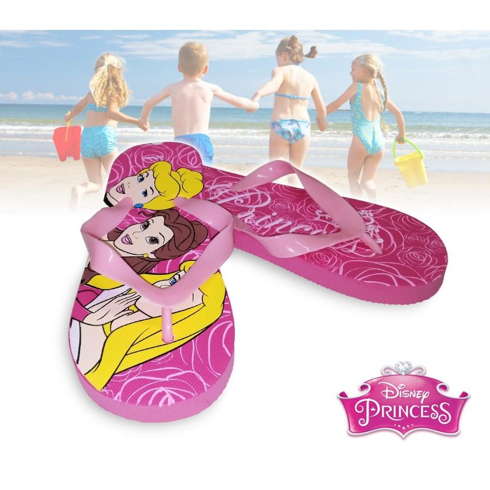 Ciabatte infradito bimba graficamente decorate con personaggi Disney Principesse sandali in gomma rosa