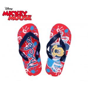 Ciabatte infradito bimbo graficamente decorate con personaggi Disney Topolino Mickey Mouse  sandali in gomma rossi