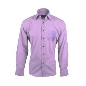 Image of Camicia da uomo monocromo mod.  JUSTIN in caldo cotone con colletto classico a 2 bottoni 8016645621786