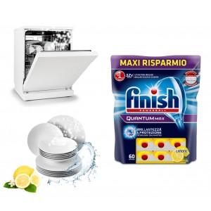 FINISH Powerball Quantum MAX al limone detersivo lavastoviglie confezione da 60 pastiglie