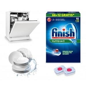 FINISH Powerball Quantum TUTTO IN 1 detersivo lavastoviglie confezione da 78 pastiglie