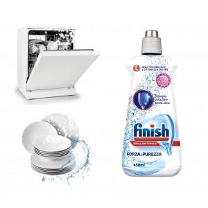 FINISH Brillantante forza e purezza detersivo per lavastoviglie confezione da 450ml