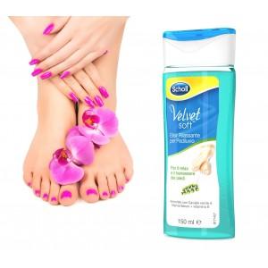 Dr. Scholl Velvet soft elisir rilassante per pediluvio piedi con caviale verde vitamina E e minerali marini