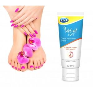 3018782 Dr. Scholl Velvet soft crema idratante giorno per piedi 60ml super assorbente