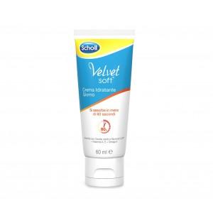 Dr. Scholl Velvet soft crema idratante giorno per il benessere dei piedi con omega 6 e vitamine A ed E confezione da 60ml