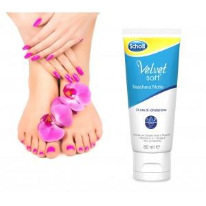 3018786 Dr. Scholl Velvet soft crema maschera notte per piedi 24 ore di idratazione 60ml