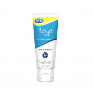 Dr. Scholl Velvet soft crema maschera notte per il benessere dei piedi 24 ore di idratazione confezione da 60ml