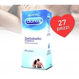 Durex Settebello preservativo classico in lattice di gomma naturale confezione da 27 pezzi