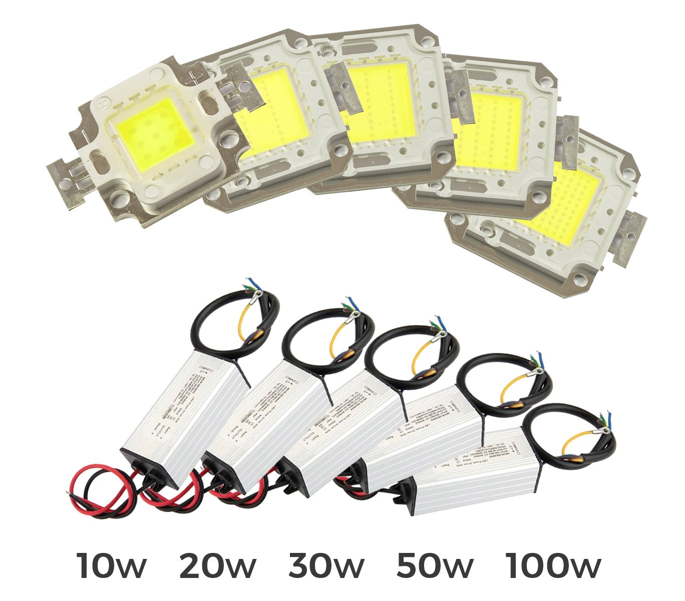 kit ricambio piastra led + led driver alimentatore per fari led a
