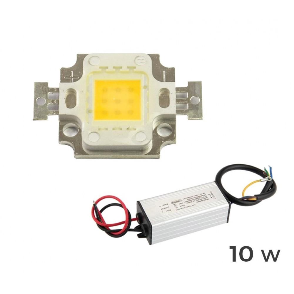 Kit ricambio piastra Led + led driver alimentatore per fari led a luce calda 3000 k da 10 20 30 50 100 watt