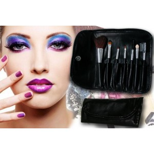 Image of Set 7 pennelli Make-Up professionali  trucco + pochette 8023759103459