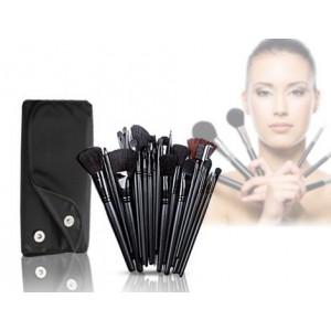 Image of Set da 32 pennelli Make-Up professionali + pochette 8435524506677