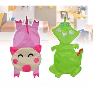 Portapigiamino a forma di simpatici animaletti per la cameretta dei bambini in tessuto impermeabile con tasche