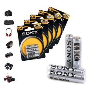 Pack da 32 -52 - 76 o 100 stilo Sony New Ultra formato AAA R03 1.5V Zinco Carbone confezione risparmio