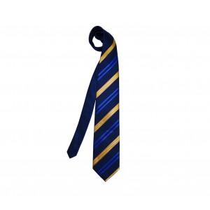 Cravatta Eleven Classic a strisce oblique con trama e struttura a coste handmade