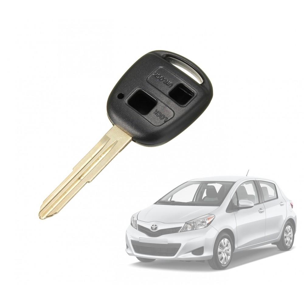 Cover guscio chiave a distanza a 2 tasti per telecomando compatibile Toyota