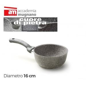 Image of Casseruola antiaderente in pietra 16 cm Accademia Mugnano Linea CUORE DI PIETRA 8012684650688