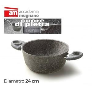 Image of Casseruola fonda antiaderente in pietra 24 cm Accademia Mugnano Linea CUORE DI PIETRA 8019980155671