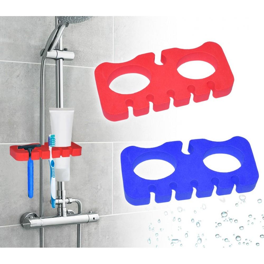 48352 Supporto per doccia porta spazzolino e rasoio in schiuma igienica da viaggio