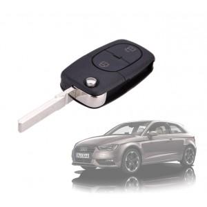 Cover guscio per chiave a distanza a 2 tasti per telecomando compatibile Audi A2