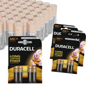 Pack da 16 o 32 mini stilo AAA Duracell long lasting durablock alcaline