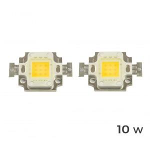2 Piastrine Led di ricambio fari led luce CALDA 3000 k da 10-20-30-50 o 100 watt placca chip