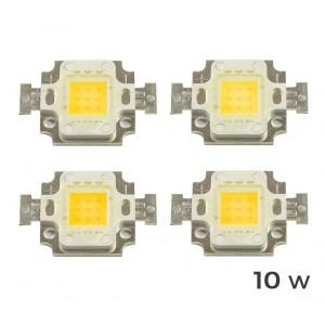 4 Piastrine Led di ricambio fari led luce CALDA 3000 k da 10-20-30-50 o 100 watt placca chip