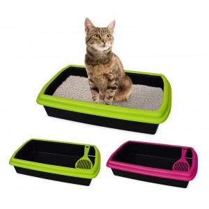 Lettiera aperta a cassetta igienica per gatti con setaccio incluso