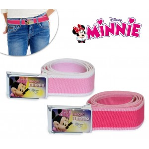 882 Cintura elastica Disney bambina con fibbia Minnie