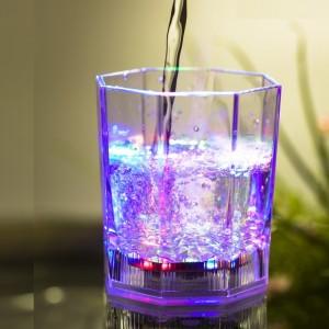Bicchiere da cocktail luminoso a led multicolore