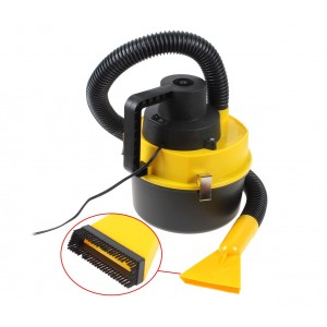 Aspirapolvere bidone 4,5 lt auto 12 v presa accendisigari con accessori